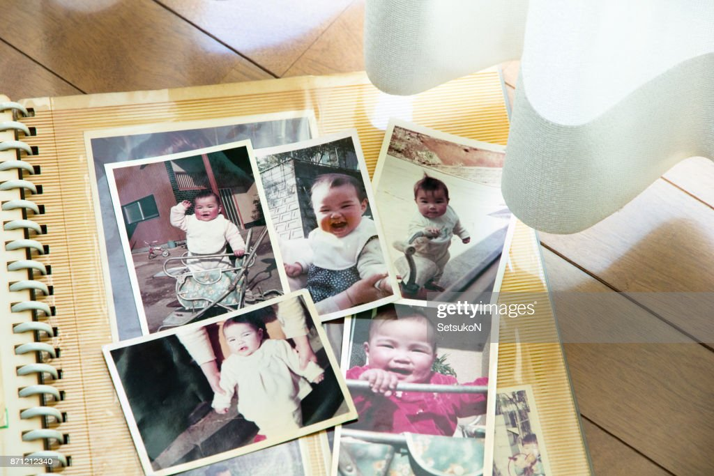 Old pictures, 70's child : Stock Photo