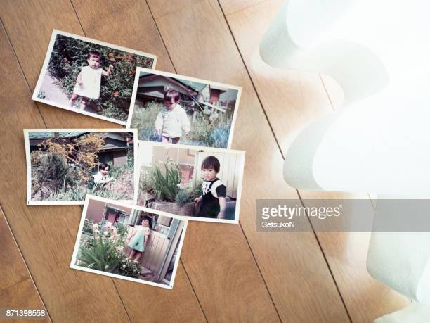 old pictures, 70's child - childhood photo album stock photos and pictures
