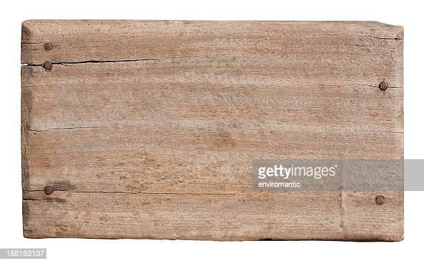 旧アイテムの風化した木材ます。
