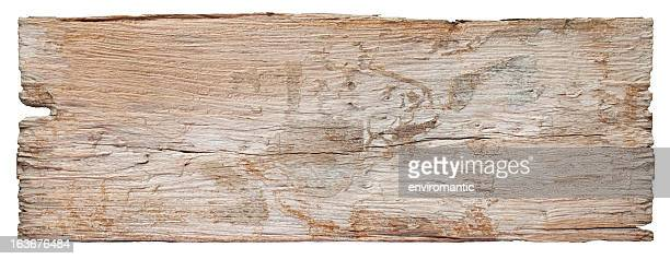 Old piece of white weathered wood board.