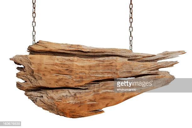 Panneau en bois vieux vêtement usé.