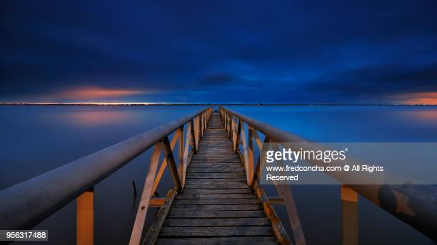 Old Pier located in Tagus river, Lisbone