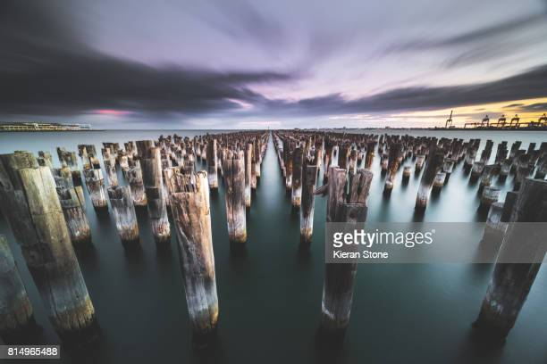 Old Pier Pylons in the Bay