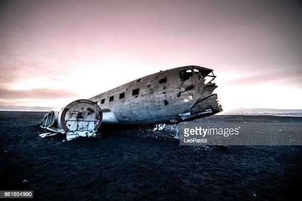 Altes Flugzeug Absturzstelle in Island