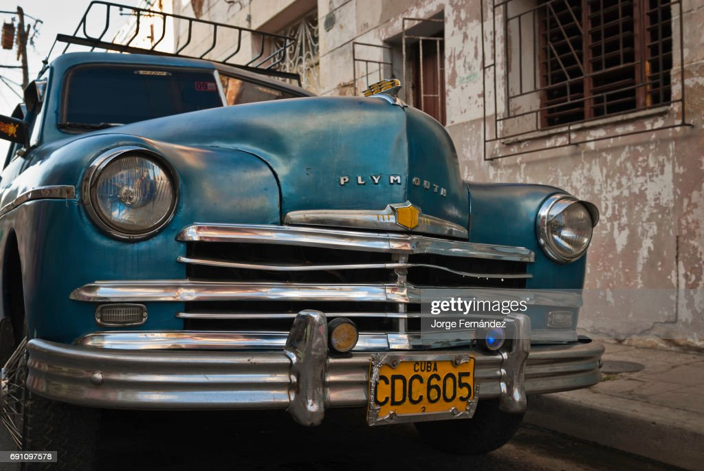 Old Plymouth car on the streets of Camaguey... Pictures   Getty Images