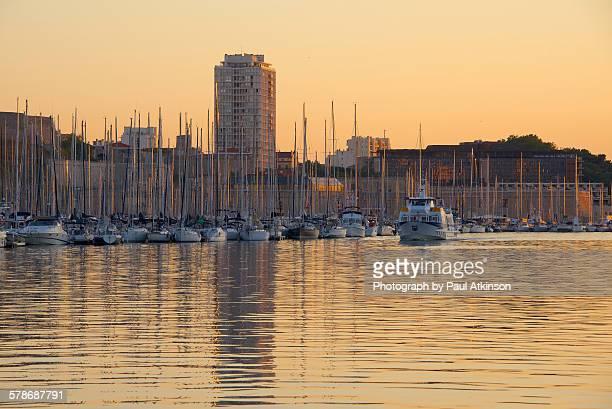 Old Port, Marseille, in evening