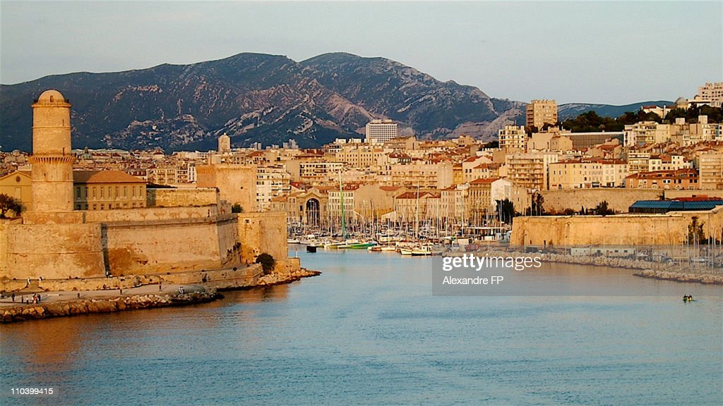 Old port of Marseille : Stock Photo