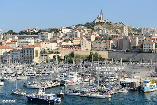 old port of marseille - marseille stock pictures, royalty-free photos & images