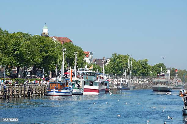 old port of warnemünde - rostock stock pictures, royalty-free photos & images
