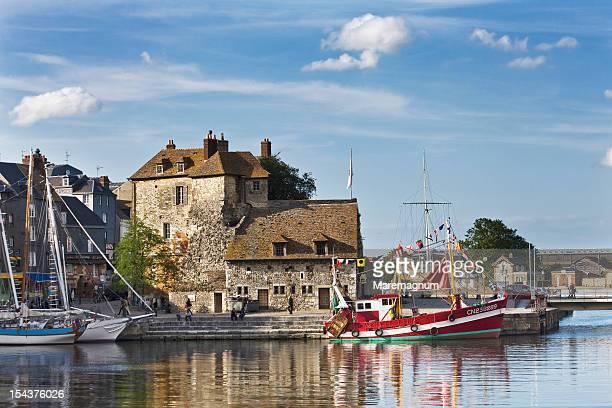 old port, the lieutenancy building - calvados stock pictures, royalty-free photos & images
