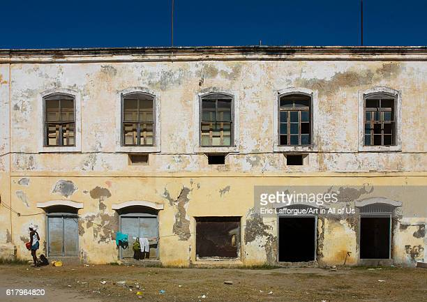 Old portuguese colonial building, island of mozambique, Mozambique on July 15, 2013 in Island Of Mozambique, Mozambique.