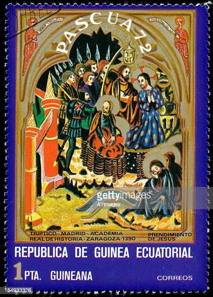 old sello postal de guinea ecuatorial - guinea ecuatorial fotografías e imágenes de stock
