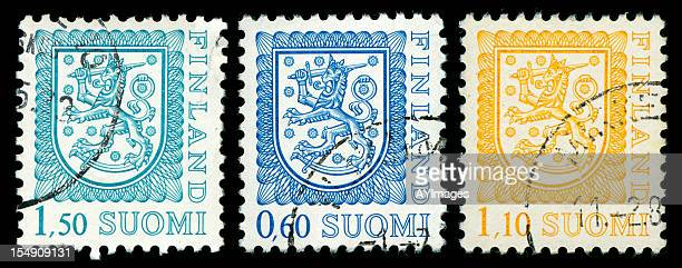 Old postage stamps from Finland