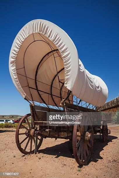 Old prairie covered wagon VIrgin Utah