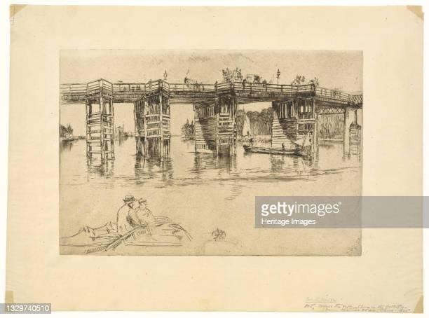 Old Putney Bridge, 1879. Artist James Abbott McNeill Whistler.