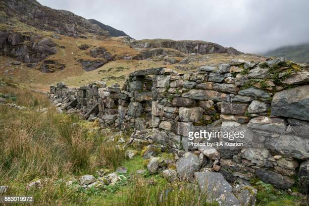 Old quarry ruins at Cwmorthin, North Wales