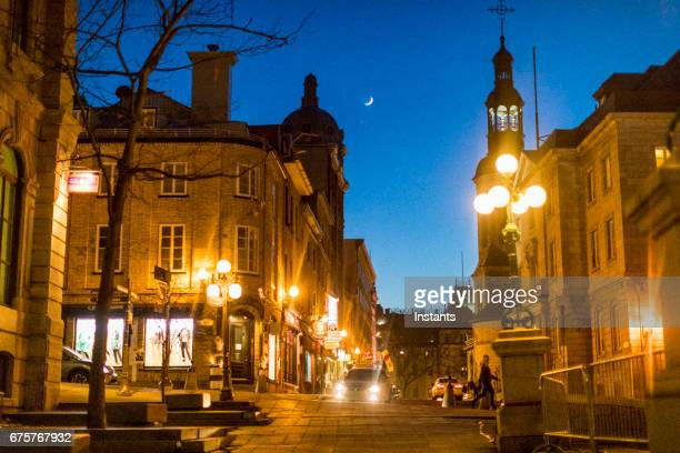 old quebec city architecture where some historical buildings and structures, dating as far back as a few centuries, are visible in the image. - old town stock pictures, royalty-free photos & images