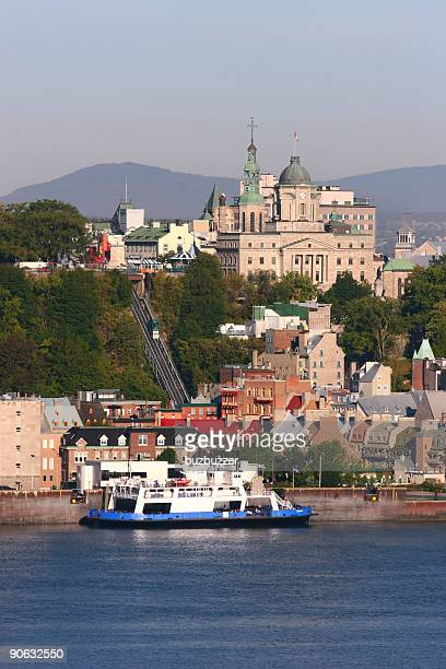 old quebec city ferry - ferry stock pictures, royalty-free photos & images