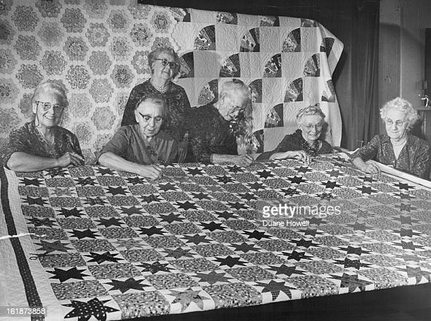 JAN 31 1962 FEB 21 1962 Old Quilters Never Quit Quilting Every Thursday afternoon in the basement of Berkeley Community Congregational Church W 50th...