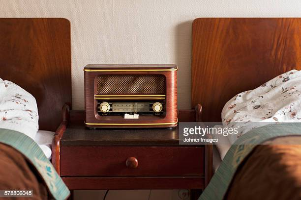 Old radio in bedroom