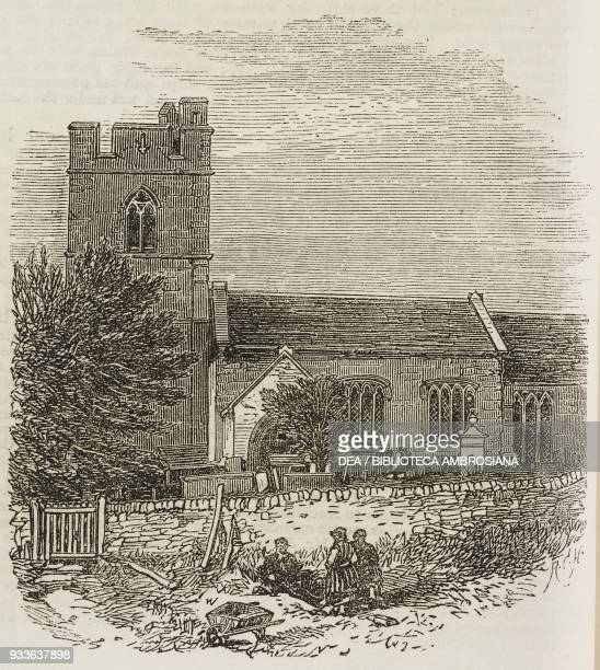 Old Radnor Parish Church Wales United Kingdom illustration from the magazine The Illustrated London News volume XLV December 10 1864