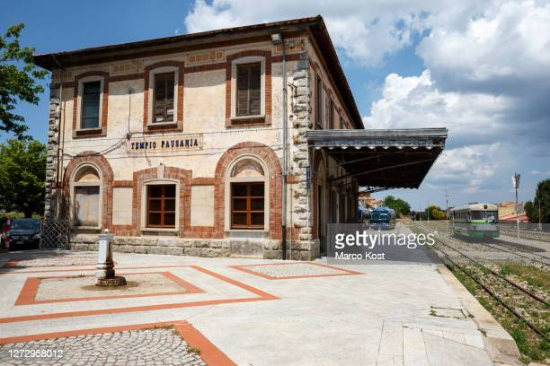 old railway station - tempio pausania stock pictures, royalty-free photos & images