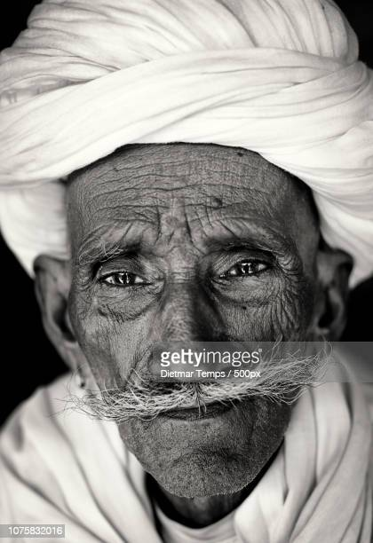 old rajasthani man, india - dietmar temps stock photos and pictures