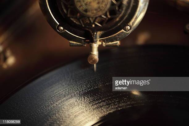 old record playing - gramophone stock pictures, royalty-free photos & images