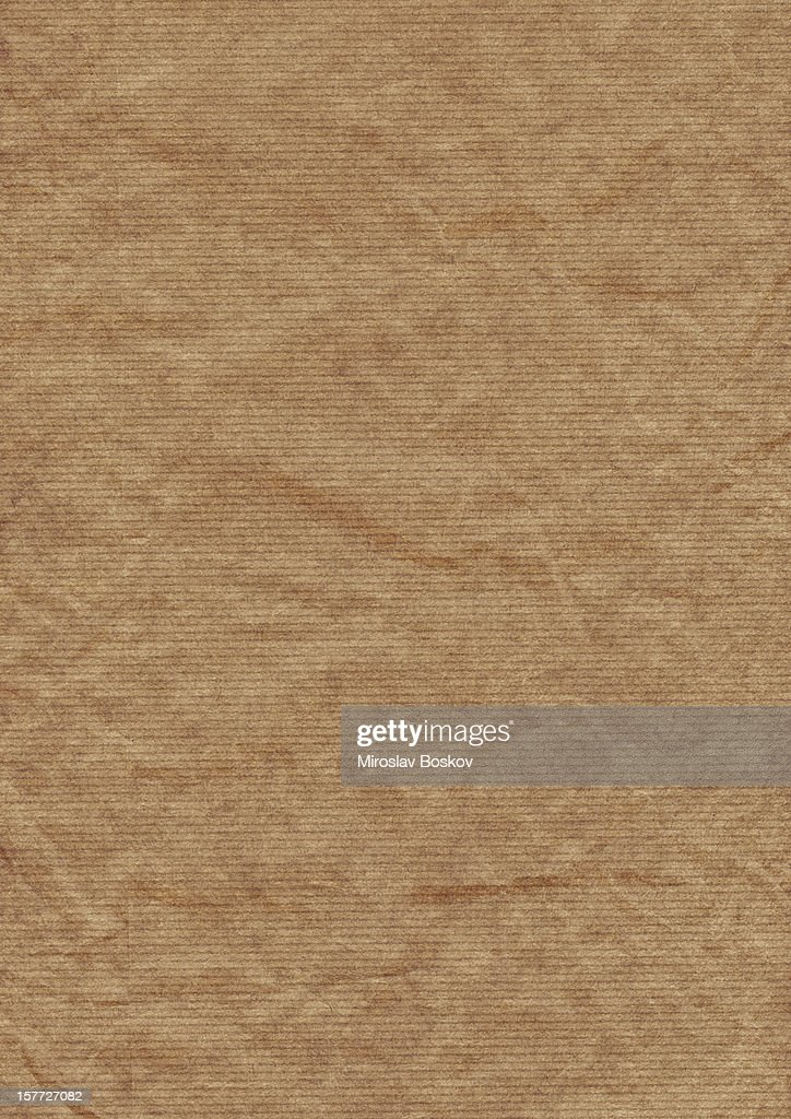 Old Recycle Brown Striped Kraft Paper Hi-Res Texture : Stock Photo