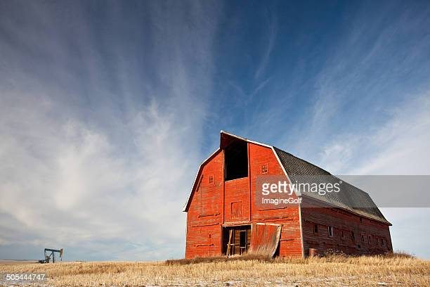Old Red Barn on the Prairie