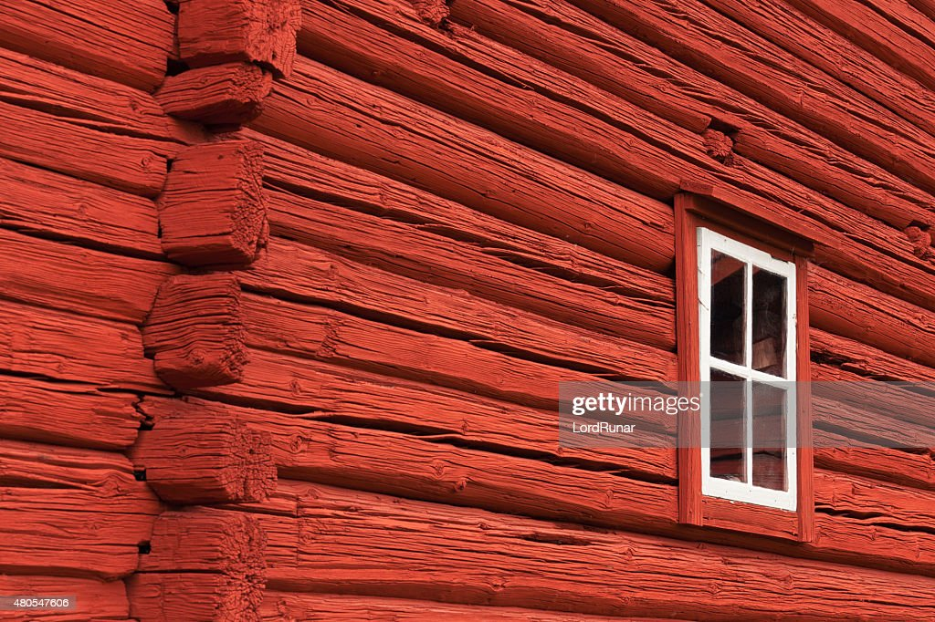 Old red country house : Stock Photo