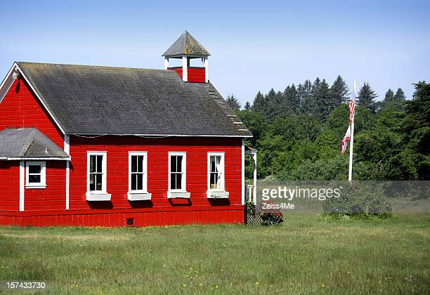 Old red country school house