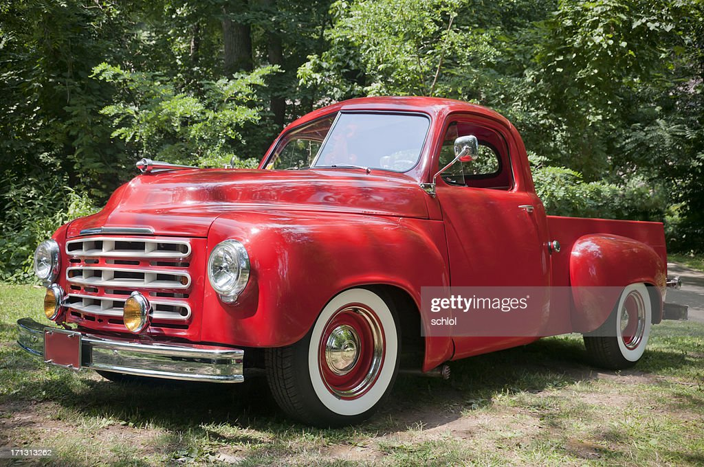 Old Red Farm Truck : Stock Photo