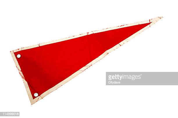 old red pennant or pennon - pennant stock pictures, royalty-free photos & images