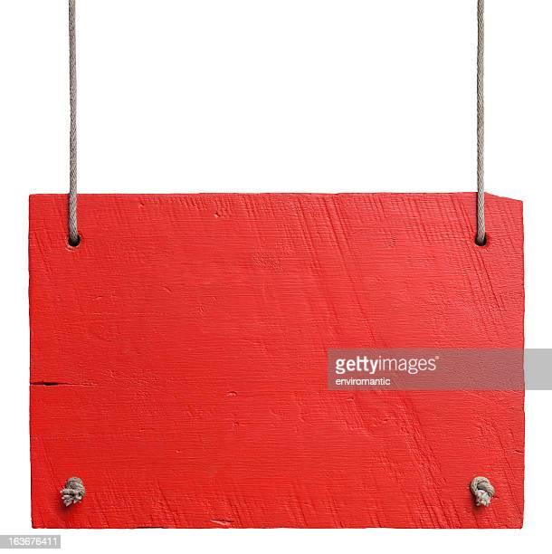 velho vermelho branco placa de madeira envelhecida. - placa - fotografias e filmes do acervo