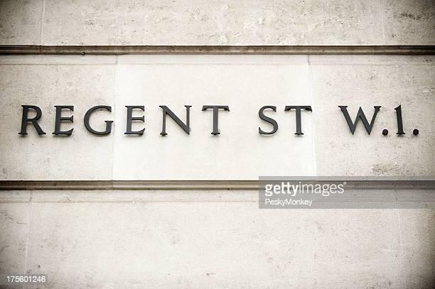 Old Regent Street Sign London Wall