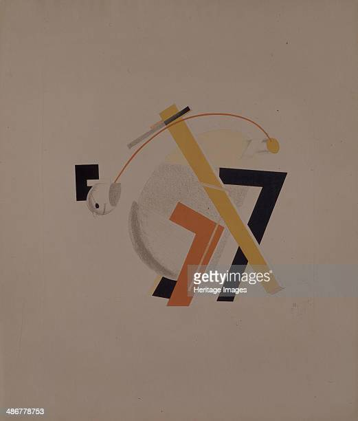 Old resident Figurine for the opera Victory over the sun by A Kruchenykh 19201921 Artist Lissitzky El