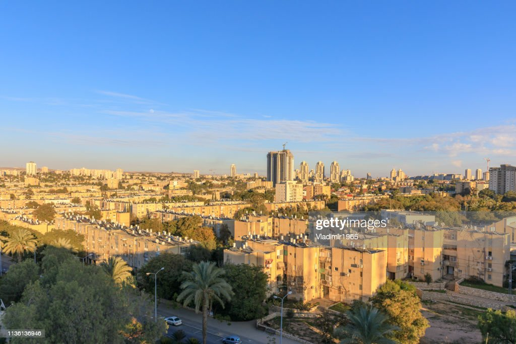 Old residential district in Beer Sheba : Stock Photo
