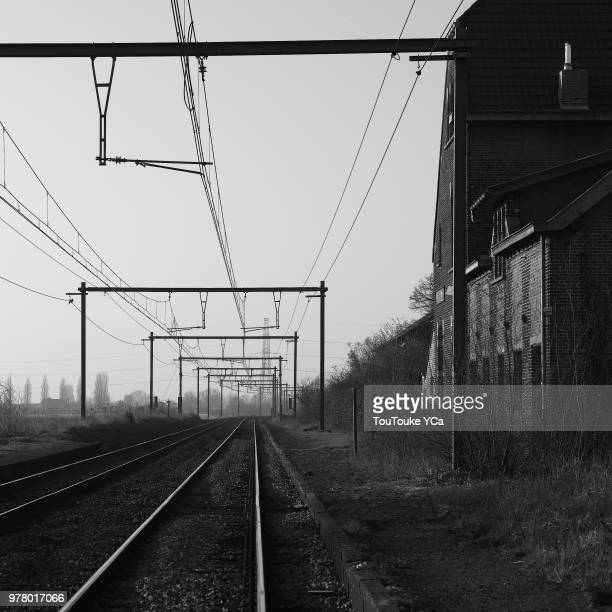 old retro railway station - semaphore stock pictures, royalty-free photos & images