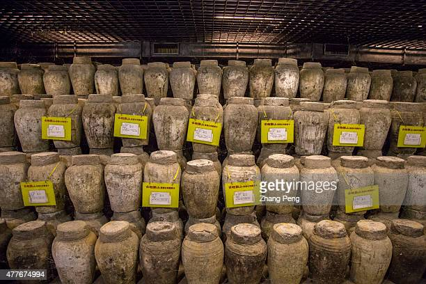 Old rice wine cellar under the Yellow rice wine Museum of China Some rice wines have been stored in this cellar since 2007 Rice wine also known as...