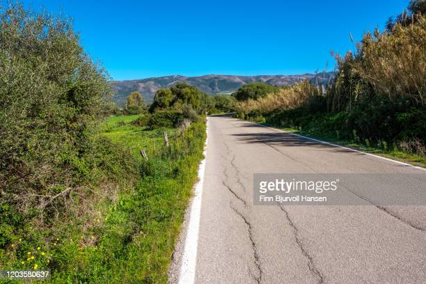 old road with cracks - finn bjurvoll stock pictures, royalty-free photos & images