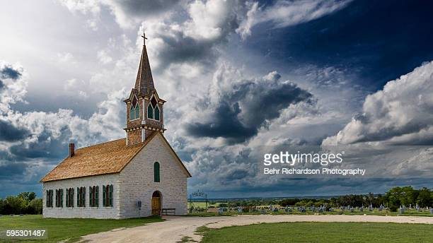 old rock church - church stock pictures, royalty-free photos & images