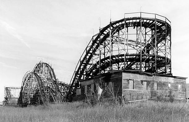 Old rollercoaster in Coney Island NY