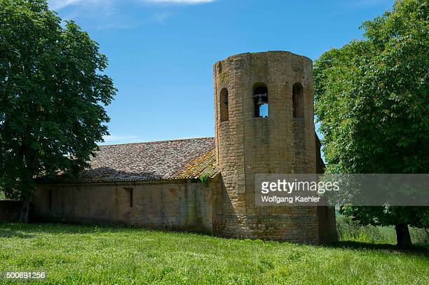 Old Romanesque church in the Val d'Orcia outside of Pienza in Tuscany, Italy.