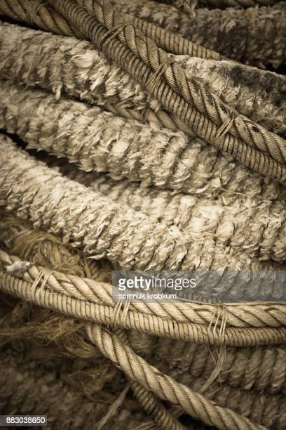 Old ropes pile