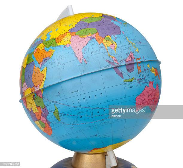 Equator line stock photos and pictures getty images old rotating world map globe gumiabroncs Images
