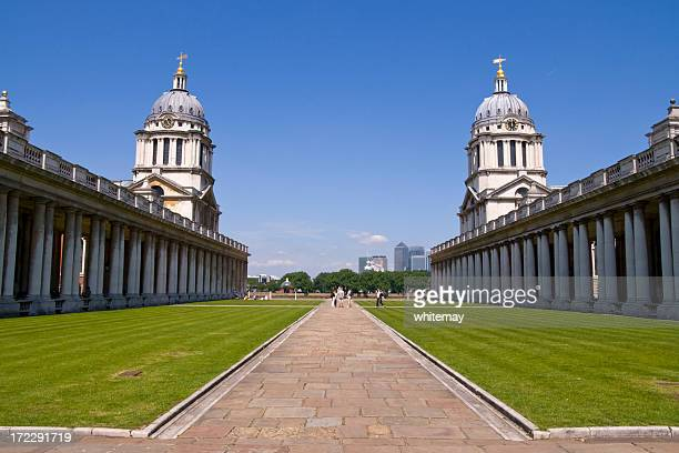 Old Royal Naval College and Canary Wharf