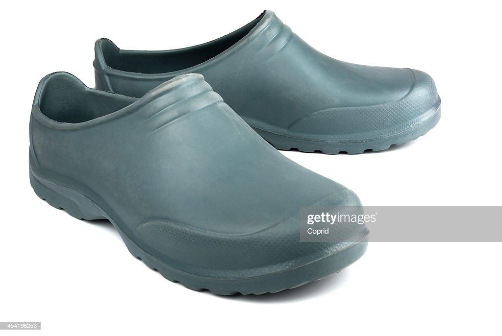 Old botas de goma : Foto de stock