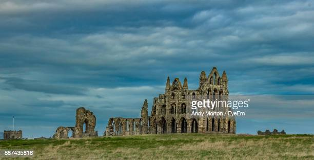 old ruin against cloudy sky - leicestershire stock pictures, royalty-free photos & images