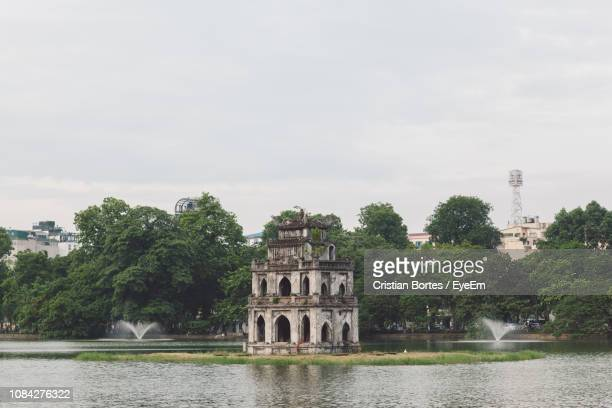 old ruin by river - bortes stock pictures, royalty-free photos & images